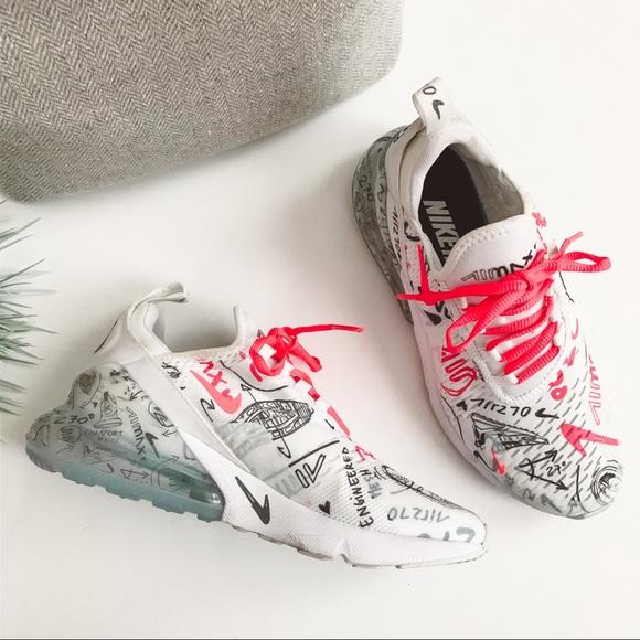 Nike Air Max 270 Custom Scribble Sneakers